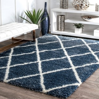 Link to Porch & Den Colville Moroccan-style Berber Trellis Shag Rug Similar Items in Rugs