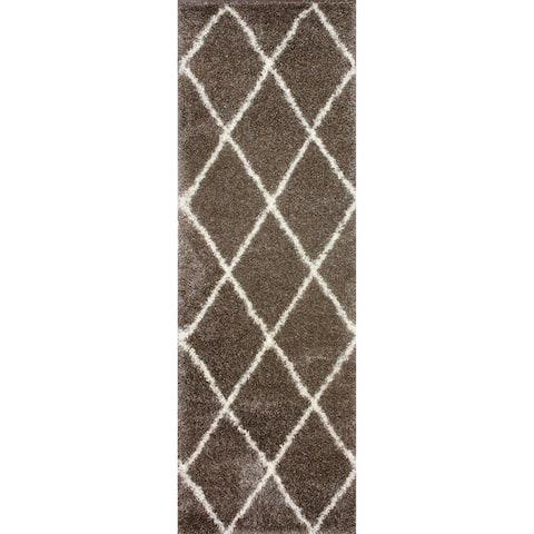 Porch & Den Colville Moroccan-style Berber Trellis Shag Rug