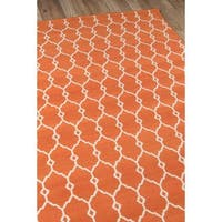 Havenside Home Trinity Trellis Orange Indoor/ Outdoor Area Rug - 6'7 x 9'6