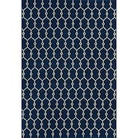 Havenside Home Trinity Trellis Ivory Indoor/ Outdoor Area Rug - 7'10 x 10'10