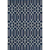 "Momeni Baja Honomuni Navy Indoor/ Outdoor Area Rug - 1'8"" x 3'7"""