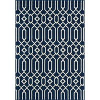 Clay Alder Home Honomuni Navy Indoor/ Outdoor Area Rug - 5'3 x 7'6
