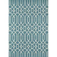 "Momeni Baja Honomuni Blue Indoor/ Outdoor Area Rug (8'6 x 13') - 8'6"" x 13'"