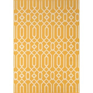 Havenside Home Misquamicut Blue Indoor/ Outdoor Area Rug (Yellow - 67 x 96)
