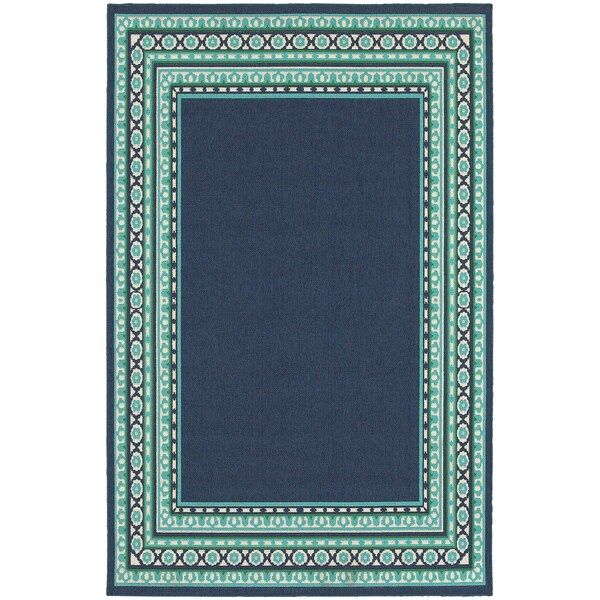 Shop Clay Alder Home Variadero Borders Navy Green Indoor