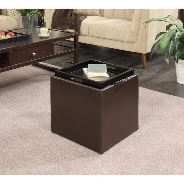 Ottomans Lifestyle Single Ottoman: Shop Porch & Den Logan Single Ottoman With Stool