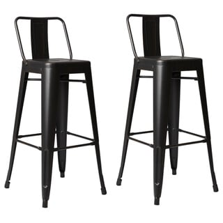 Link to Carbon Loft Ruska Steel 30-inch Bar Stool (Set of 2) Similar Items in Dining Room & Bar Furniture