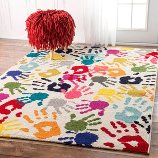 Taylor & Olive Lurleen Contemporary Handprint Collage Multi Rug