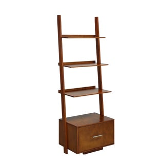 Clay Alder Home Logan Ladder Bookcase with File Drawer