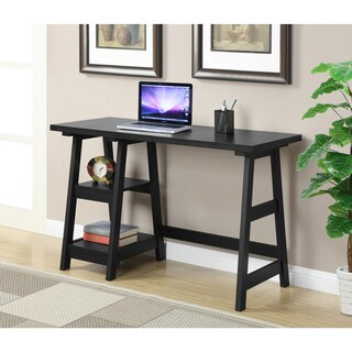 Convenience Concepts Designs2Go Trestle Oak/Black/White/Espresso/Cherry/Off-white Wood Desk (2 options available)