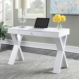 Copper Grove Helena Espresso/ White Wood Desk with Drawer