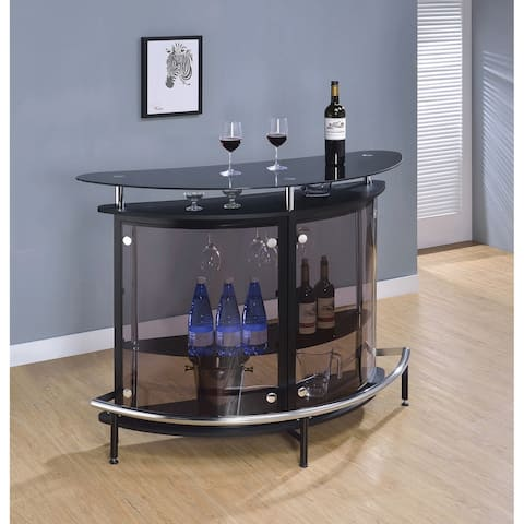 Strick & Bolton Mikeshin Glass Bar Table