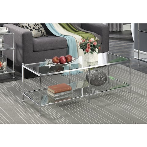 Silver Orchid Price Glass Coffee Table