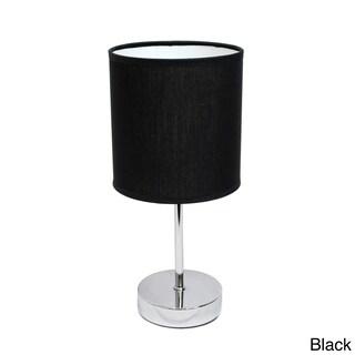 Clay Alder Home Roseman Chromed Iron 40-watt 1-light Drum Shade Mini Table Lamp