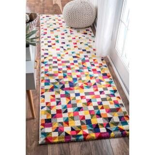 Clay Alder Home Hillsboro Contemporary Triangle Mosaic Multi Runner Rug - 2' x 8'