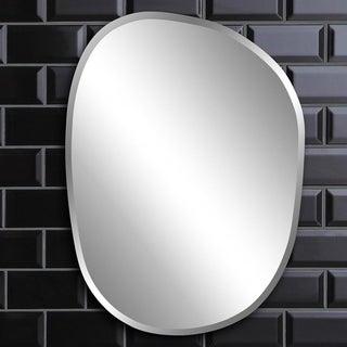 Silver Orchid Grey Asymmetrical Frameless Mirror - N/A