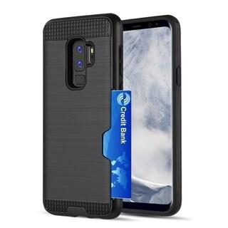 Samsung Galaxy S9 Plus Hybrid Card To Go Case Black Tpu W/ Silk Back