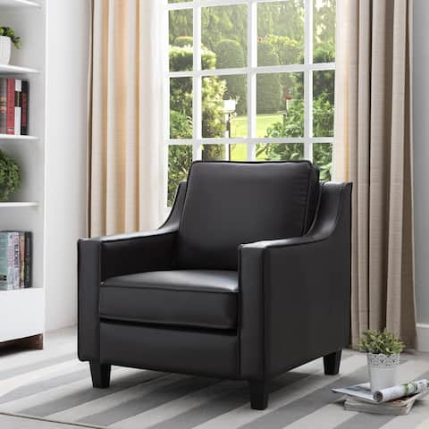 Furniture of America Kayn Contemporary Vinyl Padded Club Chair