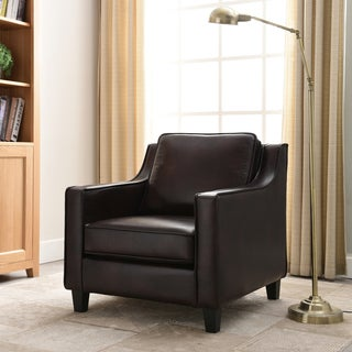 Furniture of America Kayn Contemporary Faux Leather Padded Club Chair