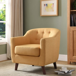 Furniture of America Ezrelle Midcentury Modern Barrel Club Chair