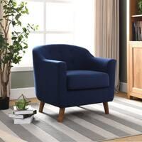 Furniture of America Ezrelle Midcentury Modern Barrel Club Chair
