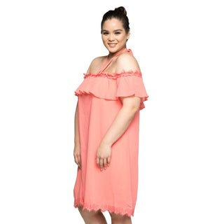 Xehar Womens Plus Size Casual Off Shoulder Halter Tie Summer Dress (5 options available)