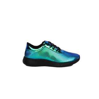 Xehar Womens Fashion Holographic Metallic Lace Up Sneakers (4 options available)