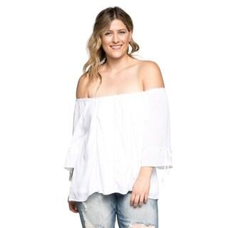 Xehar Women's Plus Size Off Shoulder Boho Blouse Top