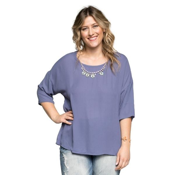 368d855df82 Shop Xehar Women s Plus Size Casual Fancy Blouse Tunic Top - Free ...