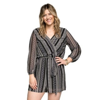 Xehar Womens Plus Size Sexy Long Sleeve Short Rompers