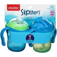 Playtex Training Time Starter Set Cup - 6 Ounce - 2 Pack - Green/Blue - Green