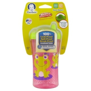 NUK Gerber Graduates Advance Developmental Hard Spout Sippy Cup - 10 Ounce - Pink Frog