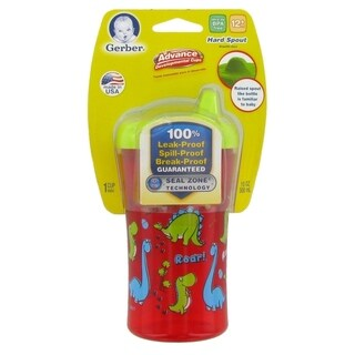 NUK Gerber Graduates Advance Developmental Hard Spout Sippy Cup - 10 Ounce - Red Dino