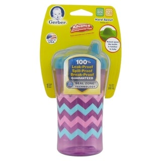 NUK Gerber Graduates Advance Developmental Hard Spout Sippy Cup - 10 Ounce - Pink Zig Zag