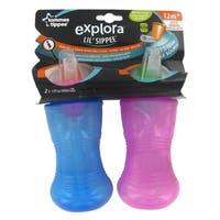 Tommee Tippee Explora Lil' Sippee Cup - 13 Ounce - 2 pack - Blue/Pink - Blue