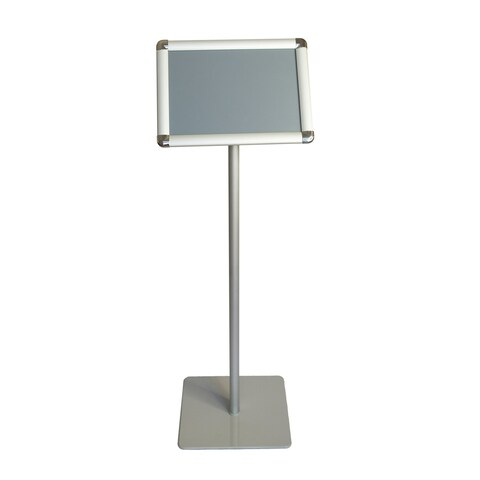 Offex A4 Size Paper Pedestal Floor Display Poster Sign Holder Stand