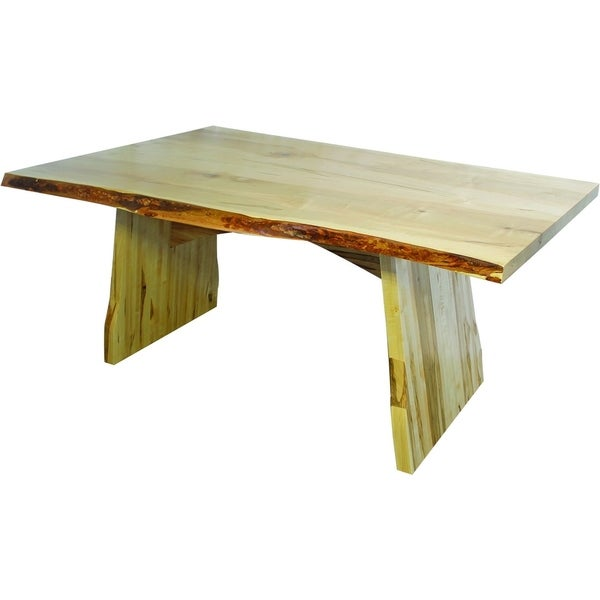 Wormy Maple Dining Table With Lyndon Base
