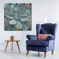 Norman Wyatt Home Rustic Succulent Gallery Wrapped Canvas Art
