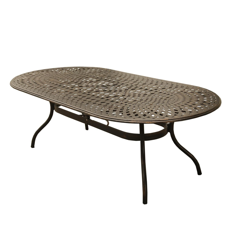 kd tropitone ast oval terrace garden view table aluminum zm cast patio tables dining x