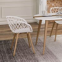 Jamesdar Kurv Chair with Natural Wood Finish Legs (Set of 4)