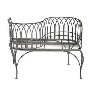 Shop Outdoor Patio Garden Park Curved Unique Bench In Grey