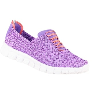 Zee Alexis Women's Danielle Woven Athletic Shoe Purple Speckle