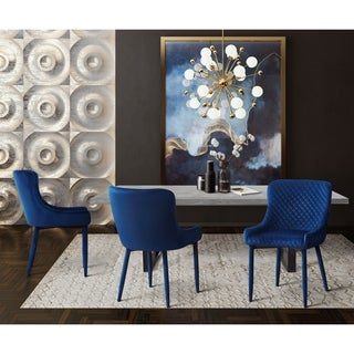 Silver Orchid Laughton Navy Dining Set