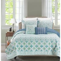 Verusha Aquamarie 5 Piece Reversible Comforter Set By Blissful Living