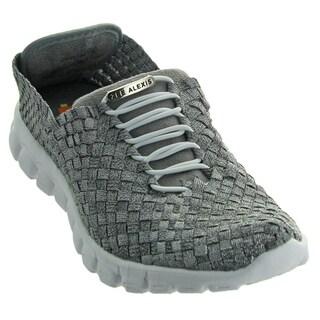 Zee Alexis Women's Danielle Woven Athletic Shoe Pewter Metallic