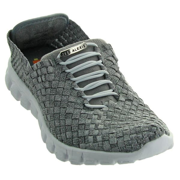 3d602ffd4 Shop Zee Alexis Women's Danielle Woven Athletic Shoe Pewter Metallic - Free  Shipping Today - Overstock - 20534641