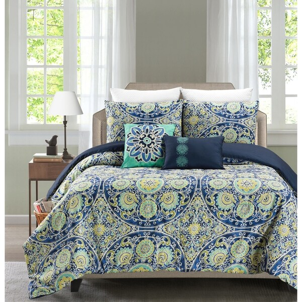 Malia 5 Piece Reversible Comforter Set By Blissful Living