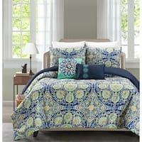 Asher Home Malia 5 Piece Reversible Comforter Set