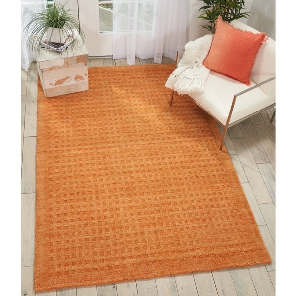 Nourison Perris Hand Woven Sunset Orange Area Rug - 5' x 7'6""