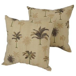 Desert Palm 17-inch Indoor/Outdoor Throw Pillow (Set of 4)